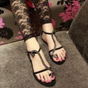 Sexy Snake T Strap Women Toe Loop Sandal Flat Shoes
