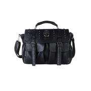Cool Punk Style Skull Rivet Black Handbag Shoulder Bag