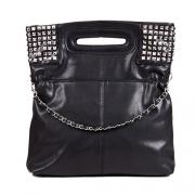 Punk Style Rivet Pure Color Handbag Shoulder Bag
