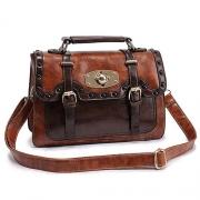 Classy Retro Rivet Mixing Color Shoulder Bag Clutch Bag