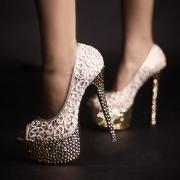 Sexy Lace Mesh Super High Stiletto Heel Platform Pump Sandal