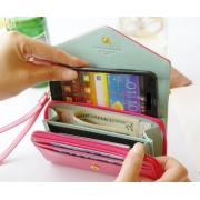 Candy Color Multi-function Envelope Wallet Case Samsung Galaxy S3 S4 Iphone 4/4S/5/5S Phone Bags Purse