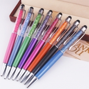2 in 1 Colorful Crystal Stylus Pen