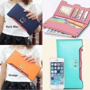 Fashion Candy Color Cute Bowknot Women Wallet