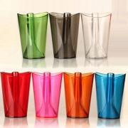 2 In 1 Colorful Flip Cup Multifunction Wash Gargle Cup(Color in random)