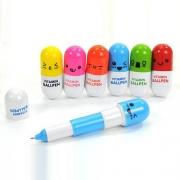 Cute Pill-shaped Retractable Ballpoint Pen