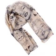 Fashion Marilyn Monroe Pattern Scarf