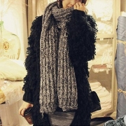 Fashion Mixed Color Warm Knit Scarf