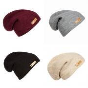 Fashion Solid Color Knit Hip-hop Cap Beanies