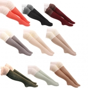 Fashion Contrast Color Knit Over The Knee Socks