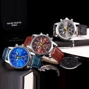 Fashion PU Leather Watch Band Round Dial Quartz Watch