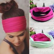 Fashion Contrast Color Multi-Purpose Headband