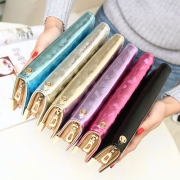 Fashion Stone Pattern Hollow Out Butterfly Long Wallet