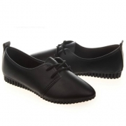 Fashion Round Toe Flat Heel Lace-up Casual Shoes
