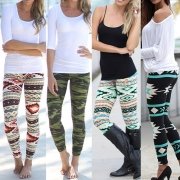 Ethnic Style Printed High Waist Elastic Leggings(It falls small)