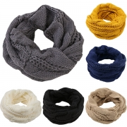 Fashion Solid Color Men's Knit Infinity Scarf