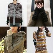 Fashion Solid Color Knit Fingerless Long Gloves