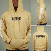 Casual Style Letters Printed Long Sleeve Hooded Front Pocket Men's Sweatshirt