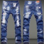 Distressed Style Relaxed-fit Ripped Jeans for Men
