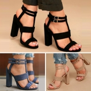 Fashion Thick High-heeled Open Toe Sandals