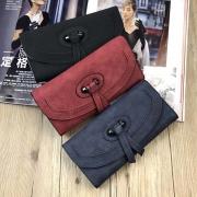Retro Style Solid Color Multifunction Wallet