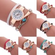 Fashion Rhinestone Inlaid Bracelet Watch