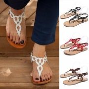 Fashion Flat Heel Thong Sandals