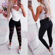 Sexy High Waist Hollow Out Stretch Leggings