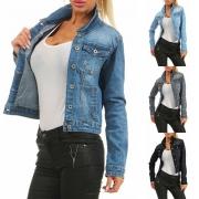 Fashion Long Sleeve Slim Fit Denim Coat