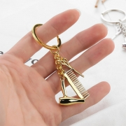 Creative Style Hair Dryer Comb Pendant Key Chain