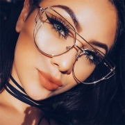 Retro Style Unisex Metal Glasses Frame