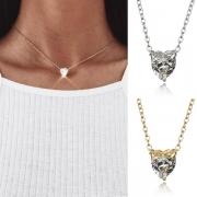 Simple Style Heart-shaped Rhinestone Pendant Necklace