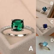 Fashion Colored Rhinestone Inlaid Ring