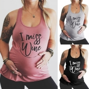 Fashion Letters Printed Maternity Tank Top