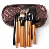 Professional Beauty Cosmetic Makeup 10pcs Brushes Set Kit with Pouch