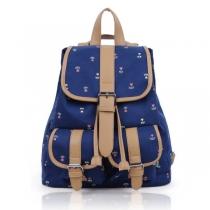 Stylish dark blue floral backpack