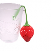 Super Cute Fantastic Strawberry Design Silicone Tea Infuser Strainer Teapot Teacup