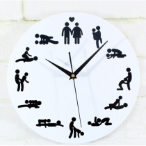 24hours Sex Position Wall Clock