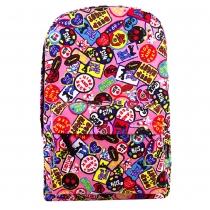 Multiple Colour Graffiti Pattern Backpack Fashion School Bag