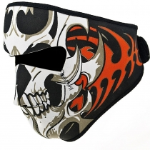 Reversible Windproof Black Tribal Classic Skull Neoprene Half Face Mask Facemask Headwear Motorcycle ATV Biker Bike Cycling