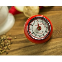 Retro Kitchen Timer with Magnet, Red