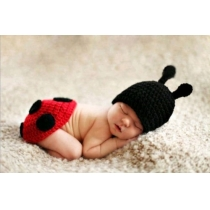 Infant Ladybug Costume Photography Prop 0-6 Months Newborn