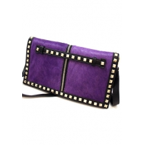Roman Style Retro Rivet Clutch Bag Crossbody Handbag