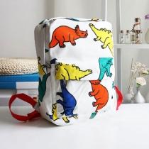 Lovely Leisure Cartoon Dinosaur Print Backpack