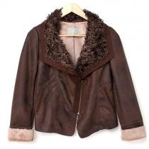 European Style Fur Lapel Motorcycle Slim Jacket