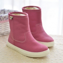 Casual Stylish Candy Solid Color Over-the-ankle Booties