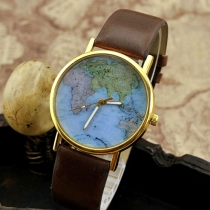 Vivi Style Retro World Map Watch for Lovers