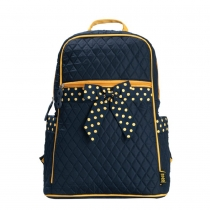 Stylish Cute Contrast Polka-dot Bowknot Backpack Bag