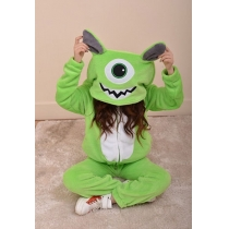 Stylish Adorable Contrast Color Stitch Monster Hood Sweatshirt