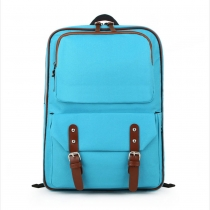 Casual Strap Buckle Solid Candy Color Backpack Travelling Bag